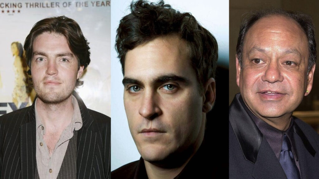 Tom Burke, Joaquin Phoenix e Cheech Marin