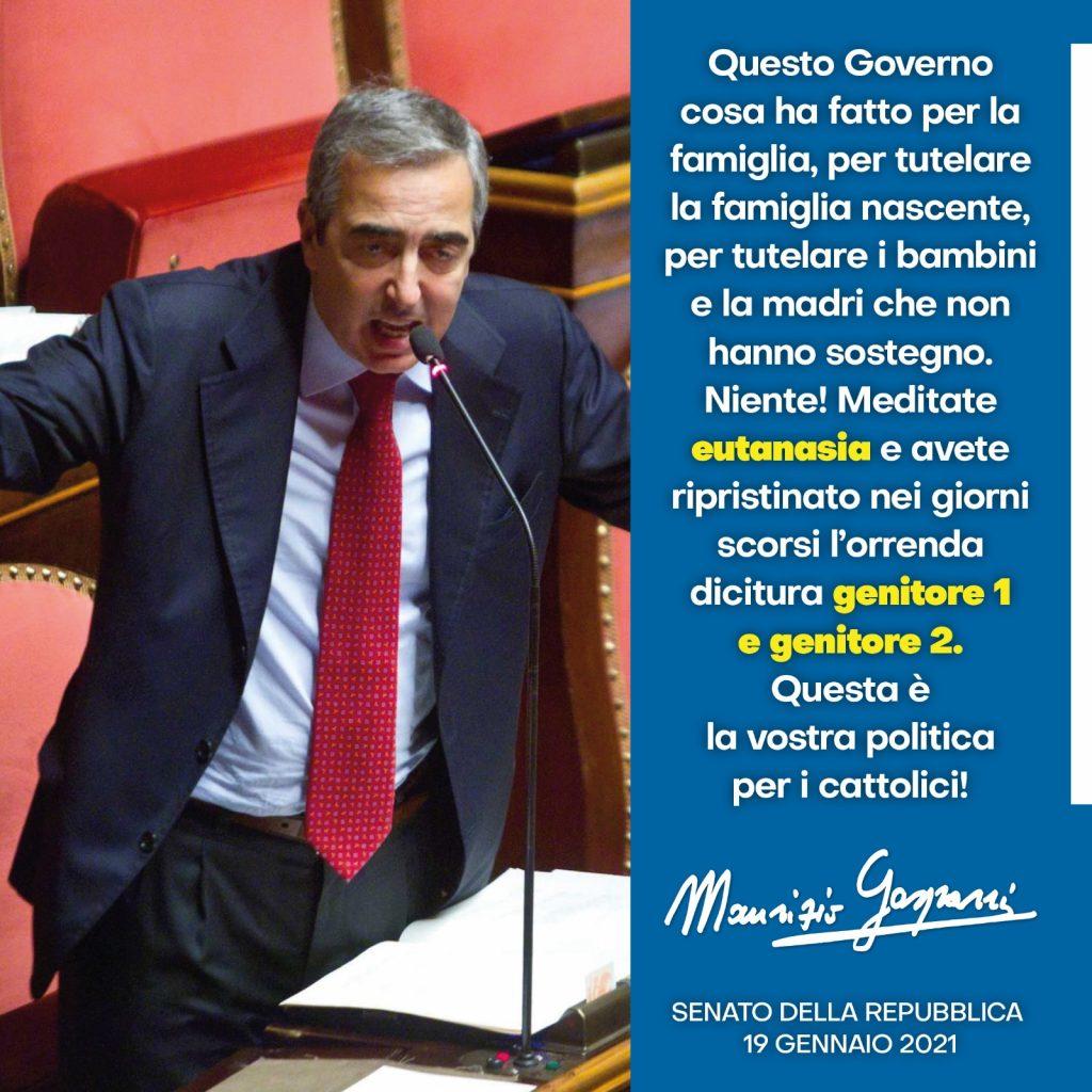 Maurizio Gasparri su vita e famiglia